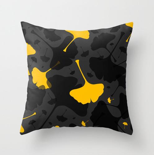 Modern Yellow Decorative Pillows : Chloe Yellow Throw Pillow - Modern - Decorative Pillows - toronto - by Paula Lukey Design
