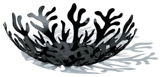 Alessi Mediterraneo Large Bowl Black Finish Modern