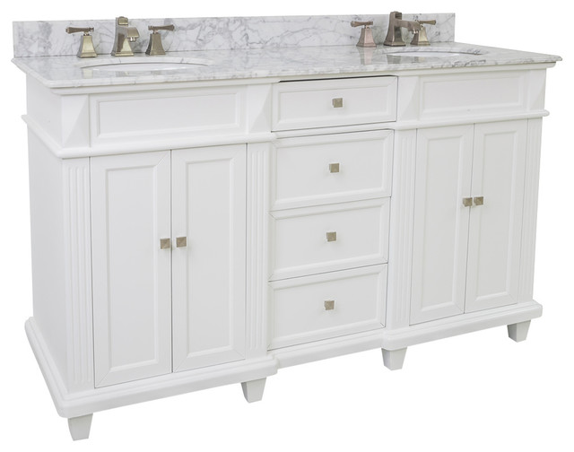 Lyn vanity white marble top 60 bathroom vanities and sink consoles by simply knobs and pulls - Simply design a bathroom vanity with five steps ...