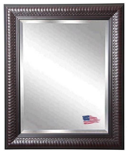American made rayne royal mahogany beveled wall mirror - Miroir horizontal mural ...