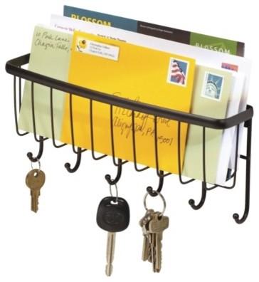 InterDesign Axis Wallmount Mail & Key Rack, Bronze ...