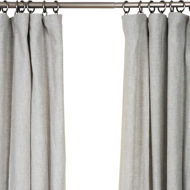 Belgian Flax Linen Drapery Mist Gray 50 X 84 Farmhouse Curtains By Barn Willow