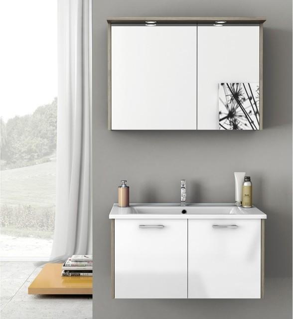 33 inch bathroom vanity set contemporary bathroom for Bathroom cabinets 33