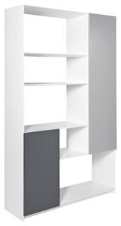 leaf meuble de s jour 2 portes moderne biblioth que par habitat officiel. Black Bedroom Furniture Sets. Home Design Ideas