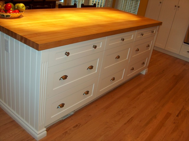 Maple Butcher Block Island Top - Traditional - Kitchen Countertops - other metro - by Style Line ...