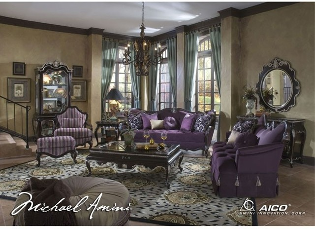 AICO Furniture Lavelle Living Room Set Mediterranean Fabric New York