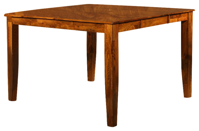 Mango Solid Wood Counter Height Table w Leaf in Light Oak  : contemporary indoor bar tables from houzz.com.au size 640 x 422 jpeg 42kB