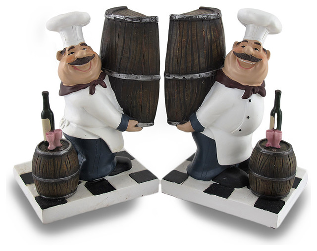 Hand Painted Kitchen Cook Bookends