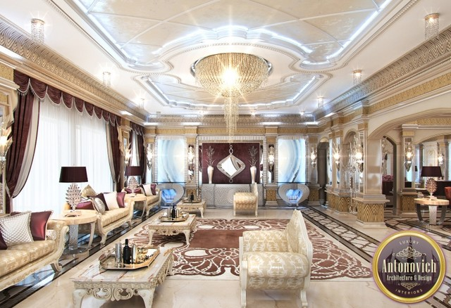 Arabic house design from luxury antonovich design asian - Decor oriental design interieur luxe antonovich ...