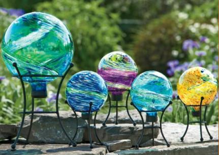 Celestial Globe Gazing Balls Eclectic Outdoor Lighting