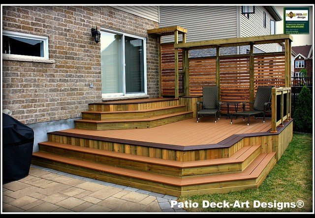 Patio deck art designs outdoor living contemporary for Modern garden decking designs