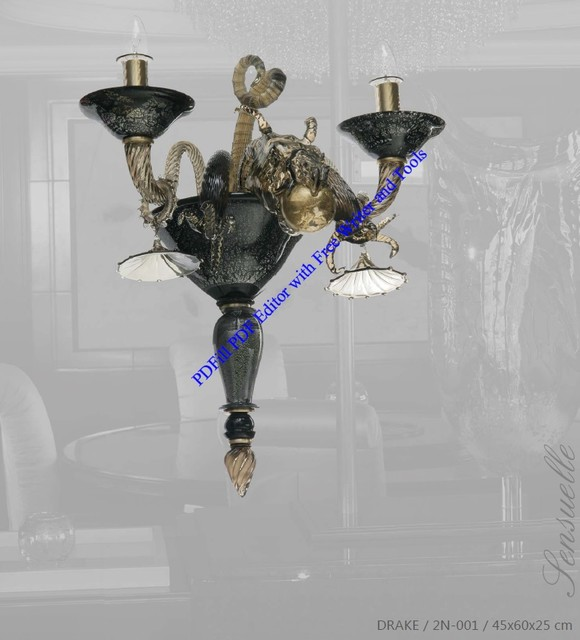 Czech Crystal Wall Lights : Bohemian Czech Crystal DRAKE Sculptural wall sconce