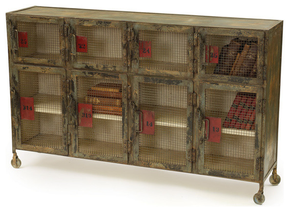 Locker Room Cabinet - Industrial - Storage Cabinets - by Indeed Decor