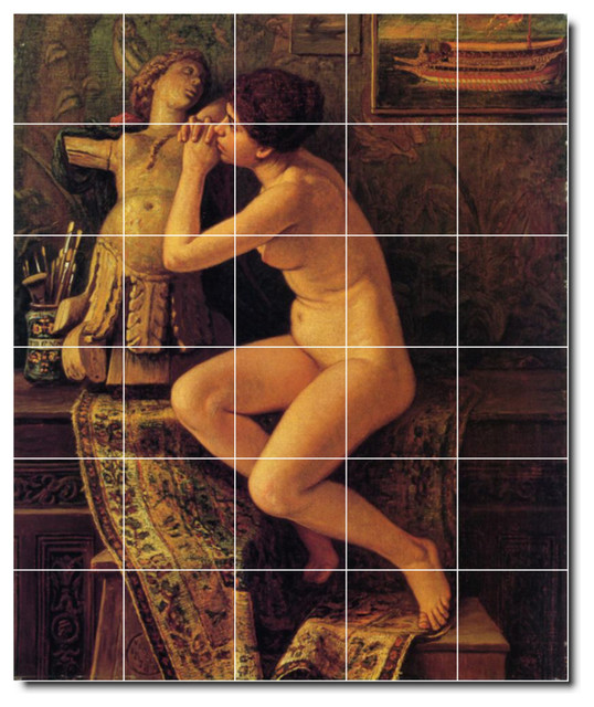Wall tile shower mural nudes