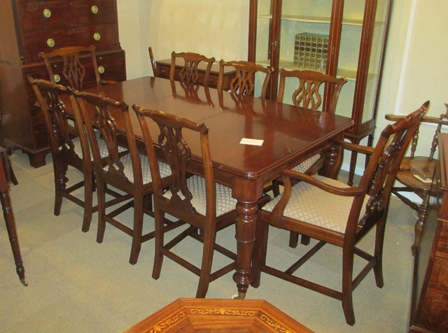 A mahogany william iv dining table traditional dining for Traditional dining table uk