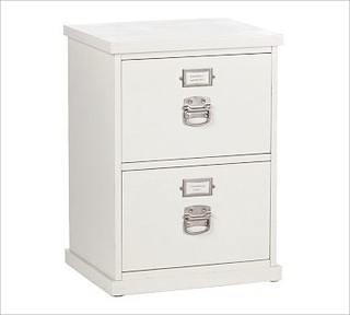 Bedford 2-Drawer File Cabinet, Antique White - Traditional - Filing ...