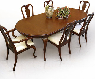 Meja Makan Traditional Dining Tables Other Metro By Indo Furniture
