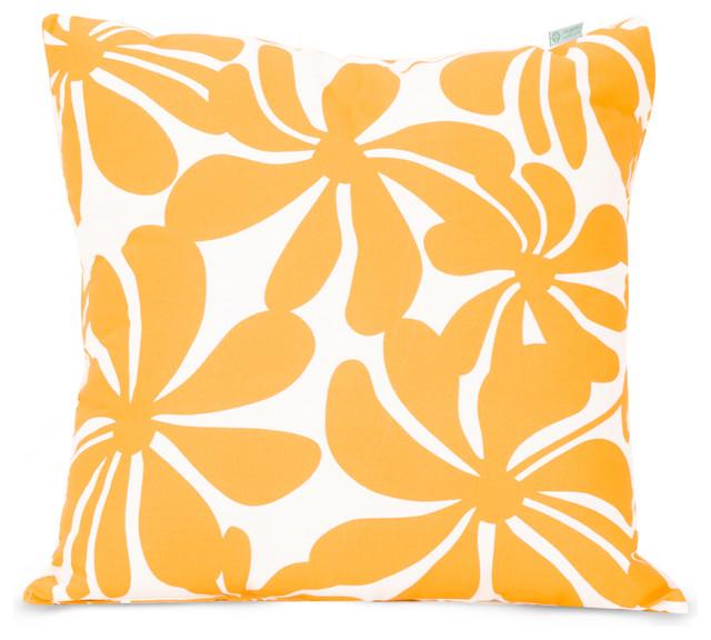 Outdoor Yellow Plantation Pillow Tropical