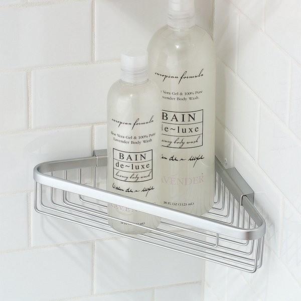Motiv Hotelier Deep Corner Basket Bathroom Shelf Modern Shower Caddies By Knobsandhardware