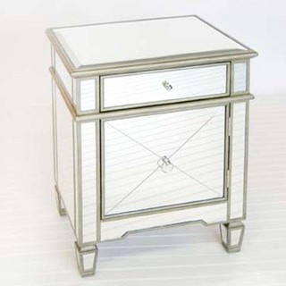Worlds Away Claudette Nightstand Edged in Silver - Traditional - Nightstands And Bedside Tables ...