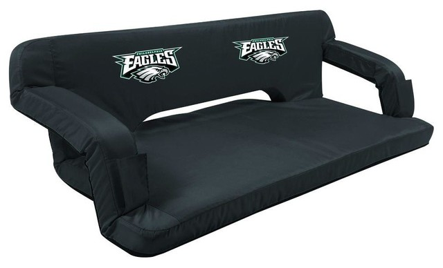 Picnic Time Chairs Philadelphia Eagles Black Reflex Travel Couch Contemporary Patio