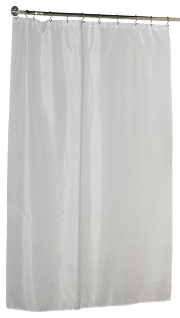 Extra Long 84 39 39 Polyester Shower Curtain Liner In White Shower Curtains By Carnation Home