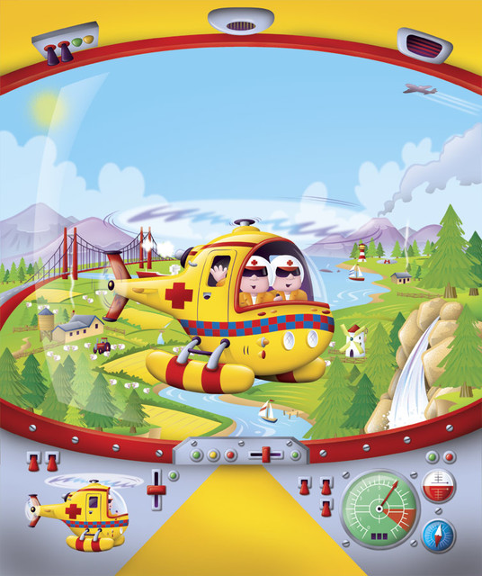 Helicopter cockpit wall mural contemporary wallpaper for Cockpit wall mural
