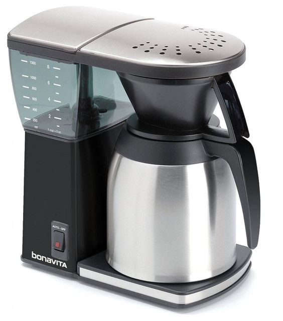 Coffee Maker With Glass Lined Carafe : Bonavita BV1800SSB Black 8-cup Coffee Maker With Thermal Carafe - Contemporary - Coffee Makers ...