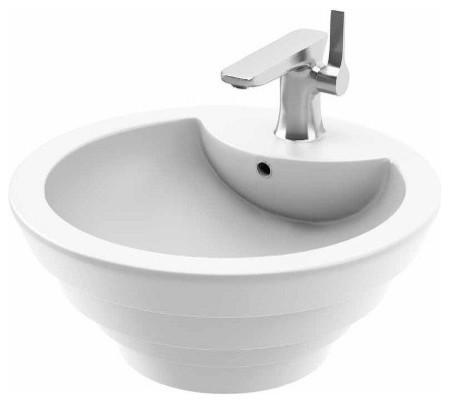 neptune sienna round above counter sink modern bathroom sinks by ybath. Black Bedroom Furniture Sets. Home Design Ideas