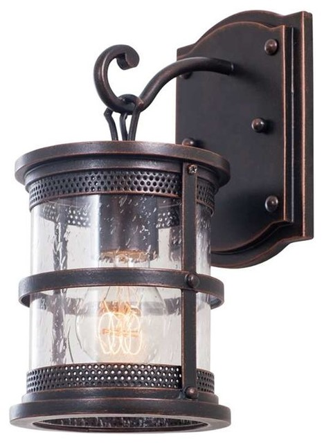 Kalco Hemlock Small Wall Bracket, Antique Copper - Rustic - Outdoor Wall Lights And Sconces - by ...