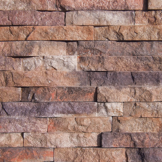 Modern Stone Veneer : Coronado cascade mountain stone color four rivers