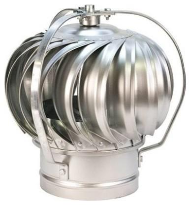 "Wind Driven Galvanized Steel Turbine Cap, 6"" - Traditional ..."