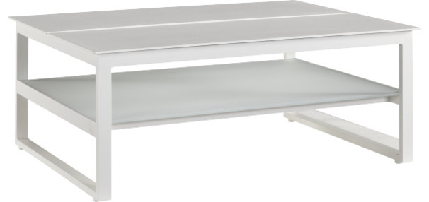 Blanche table basse avec extensions modern coffee - Table basse laque blanche ...