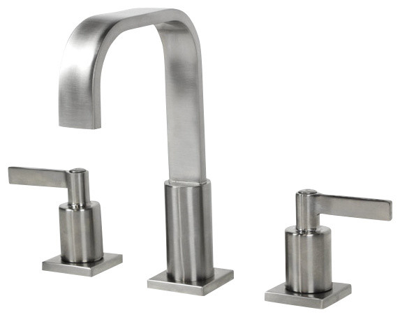 Bathroom Faucet 3 Hole : ... Hole Bathroom Faucet Brushed Nickel Finish modern-bathroom-faucets