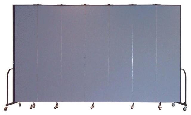 Freestanding 96 in Portable Room Divider w 7 Panels Lake