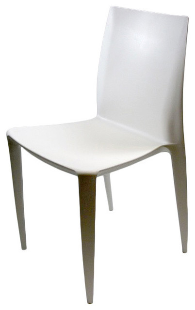 square white abs dining side chairs set of 2