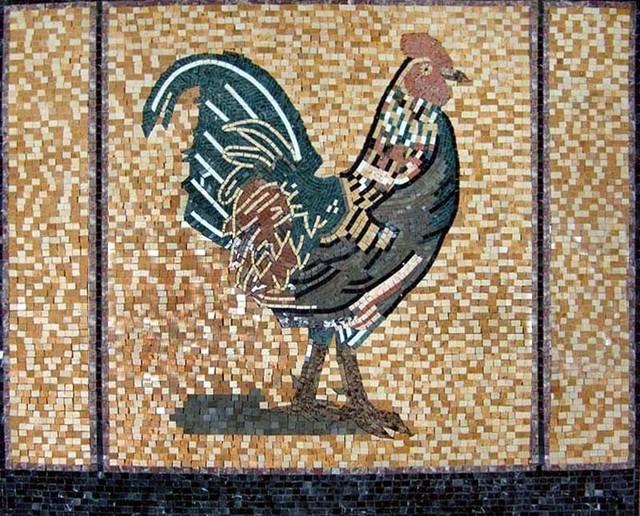 rooster backsplash mosaic farmhouse tile murals by