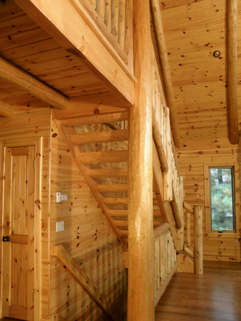 Tongue And Groove Paneling On The Ceiling And Knotty Pine