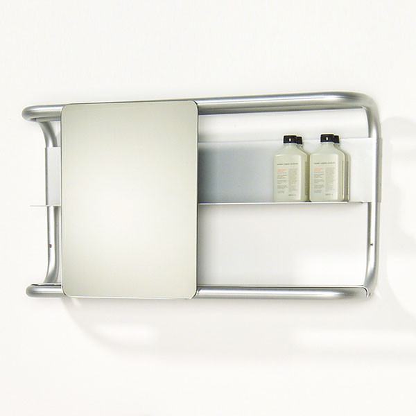 Whitehaus Collection Aeri Sliding Bathroom Mirror With Shelves Bathroom Mirrors Other Metro