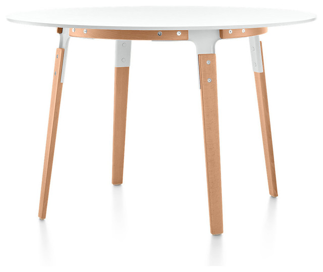 Magis Round SteelWood Table Contemporary Dining Tables : contemporary dining tables from houzz.com size 640 x 540 jpeg 32kB