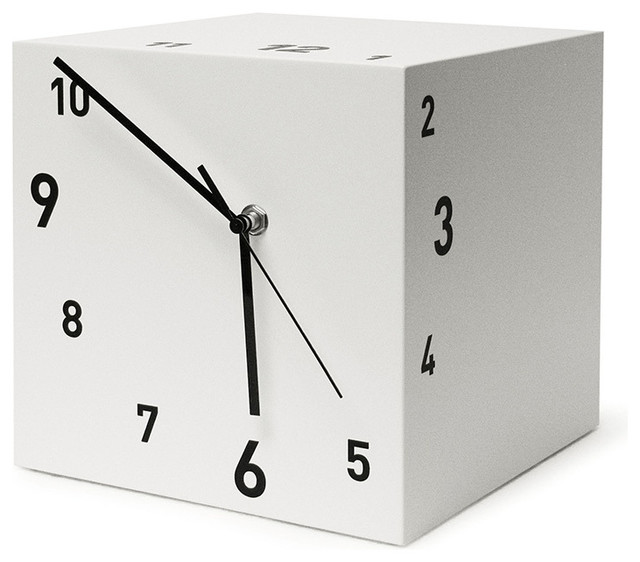 ... Clock, White - Contemporary - Desk And Mantel Clocks - by Modo Bath