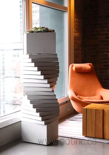 Plantus formus contempor neo macetas y jardineras para - Macetas para interior ...