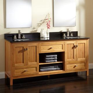 72 alcott bamboo double vanity for undermount sinks. Black Bedroom Furniture Sets. Home Design Ideas