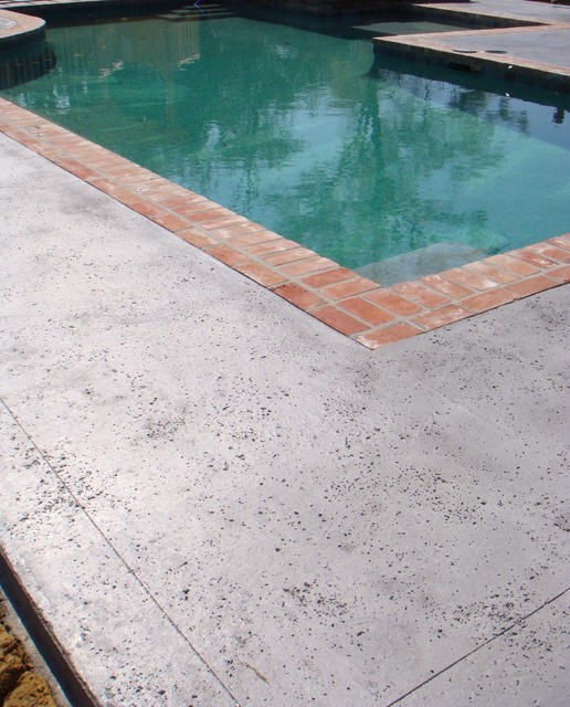 Stamped Concrete Salt Rock Texture Pool Other Metro