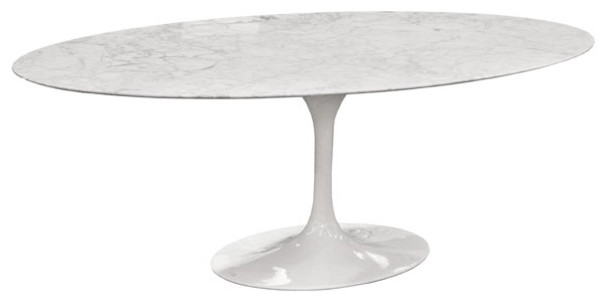 eero saarinen oval tulip table cararra marble by rove concepts moderne table manger. Black Bedroom Furniture Sets. Home Design Ideas