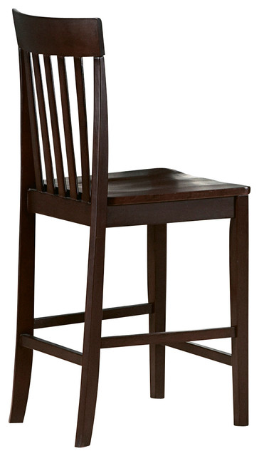 Homelegance Tully Wood Counter Height Chair in Warm Cherry ...
