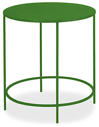 Slim round end table green modern side tables end for Slim side table