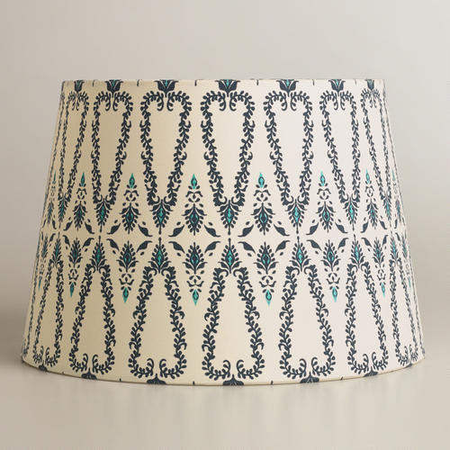woodland print accent lamp shade table lamps by cost. Black Bedroom Furniture Sets. Home Design Ideas