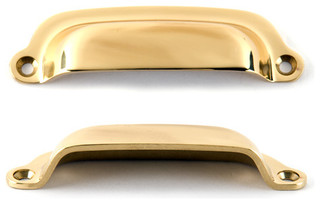 Cast Brass Bin Pull - Contemporary - Cabinet And Drawer Handle Pulls - by Lee Valley Tools