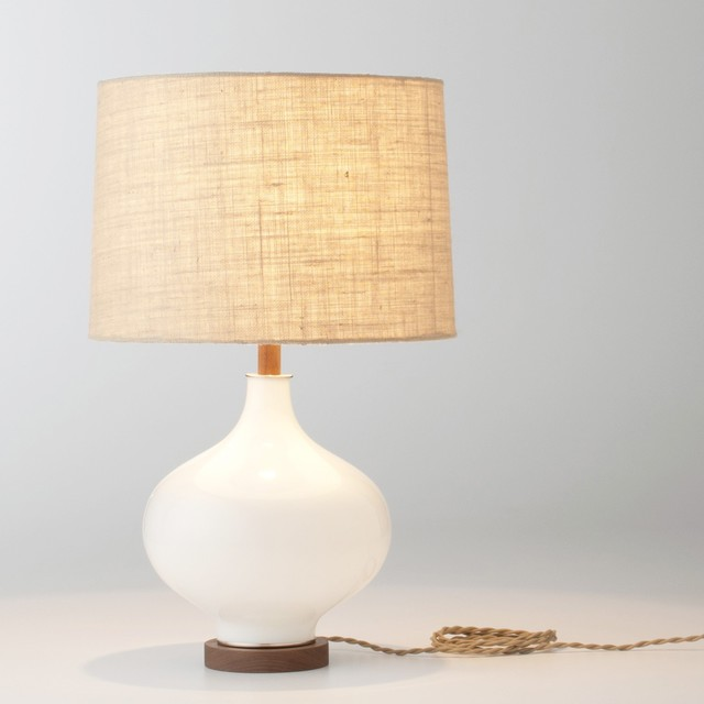 Table Lamps Contemporary Design. Lafayette Table Lamp & Fabric Shade .